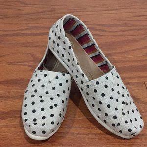 Women's Toms Classic Natural Hemp Polka Dots
